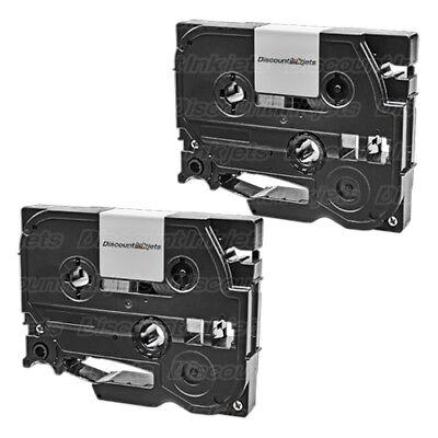 2 Tze231 Black On White Tape Cassette For Brother St-1150dx St-1150 Pt-d200 9600