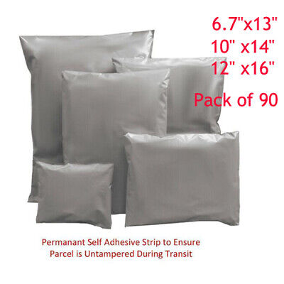 90PCS STRONG MAILING BAGS PARCEL PLASTIC POSTAL MAIL SELF SEAL POSTAGE POLY SACK