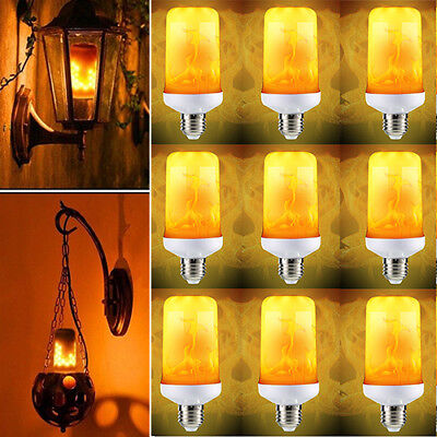 E27 LED Flicker Flame Fire Effect Simulated Light Bulb Halloween Home Decor Lamp