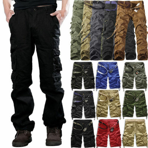 Men's Military Army Combat Trousers Tactical Work Camo Cargo