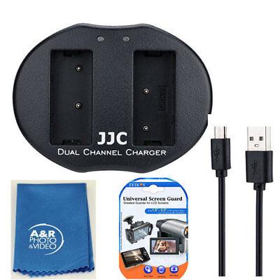 Micro USB Dual Cargador de Batería Rep sony BC-VW1 Para NP-FW50 A7...
