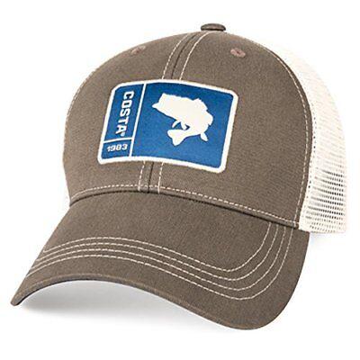 Costa Del Mar Original Patch Bass Hat, Moss/Stone