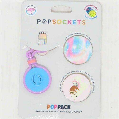 PopSockets PopChain Dual-Sided PopTop Base & Clip w/ 2pk PopGrip & Poptop