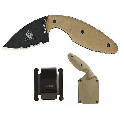 Ka-Bar 1477CBCP Coyote Brown TDI Law Enforcement Tactical Fixed Blade Knife