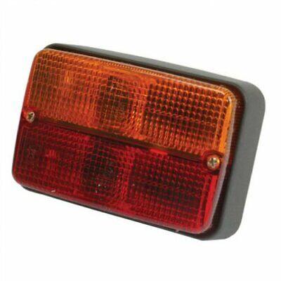 Tail Light - 12v Red Orange Rectangular Massey Ferguson 265 240 275 Landini