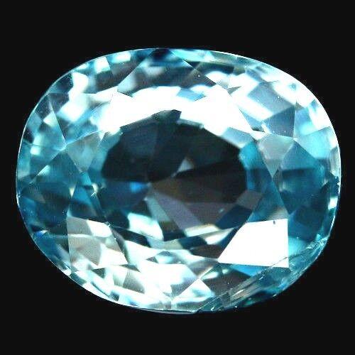 TOP ZIRCON : 3,17 Ct Natürlicher Blau Zirkon aus Kambodscha