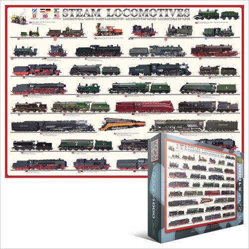 Dampflokomotiven EG60000090 - Eurographics Puzzlespiel 1000 Stück