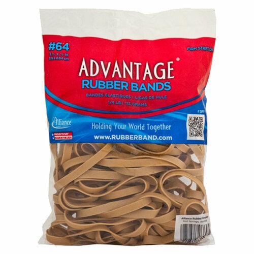 "Advantage Rubber Bands Postal Size #64 (3-1/2 x 1/4"") Heavy Duty Alliance Rubber"