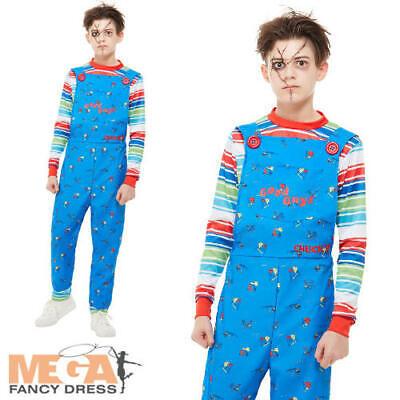 Chucky Kids Fancy Dress Killer Doll Halloween Horror Movie Boys Girls Costume