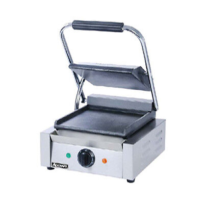Adcraft Sg-811f Countertop Single Sandwich Grill With Flat Plates