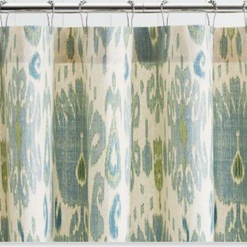 Pottery Barn Fabric Shower Curtain Ebay