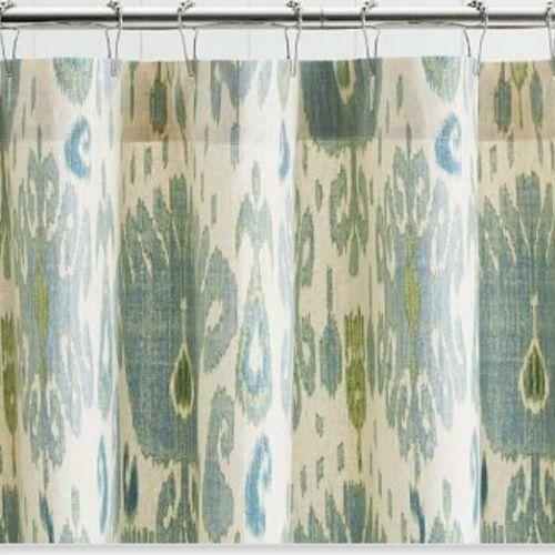 Pottery Barn Fabric Shower Curtain