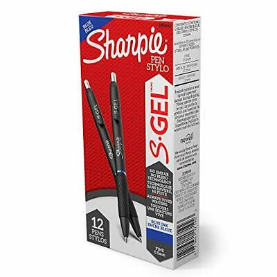 Sharpie S-gel Gel Pens Fine Point 0.5mm Blue Ink Gel Pen 12 Count