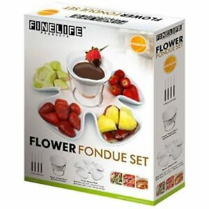 Finelife flower Fondue set -Used but kept in original packaging