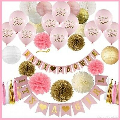 Decorations For A Baby Shower (Pink and Gold Baby Shower Decorations For Girl GROWING A PRINCESS)