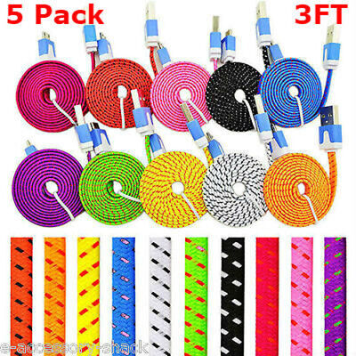 5 PACK Rapid Charge Braided Micro USB Power Cable Fast Charging  Cord (Micro Usb Rapid Charger)