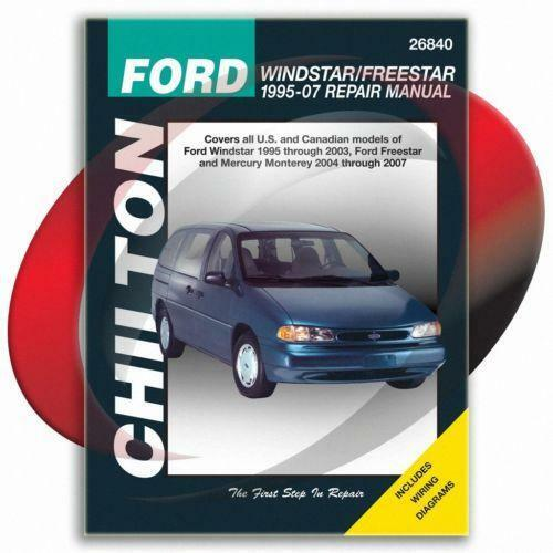 Ford windstar workshop & owners manual | free download.