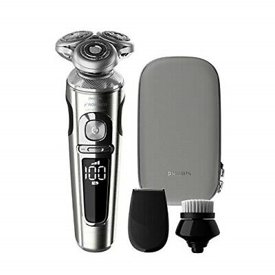Philips Norelco 9000 Prestige Electric Shaver with Precision Trimmer, Cleansing