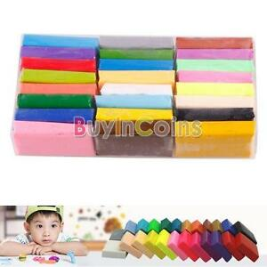24PCS Colorful fimo Effect Polymer Clay Blocks Soft