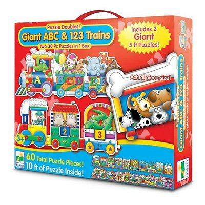 Puzzle Games For Toddlers Giant ABC 123 Train Floor Puzzles Learning Two 30 Pcs for sale  USA
