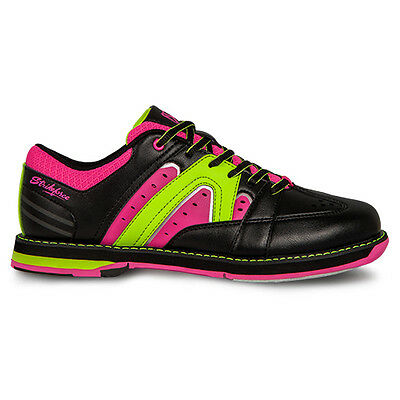 (KR Strikeforce Quest Black/Pink/Yellow Womens Bowling Shoes)