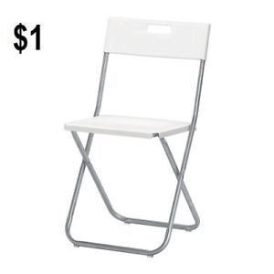 Folding chair and table rental in$1