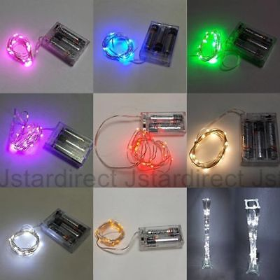 5X 20 Led Wire Fairy String Light for Wedding Eiffel Tower Vase Centerpiece USA ()