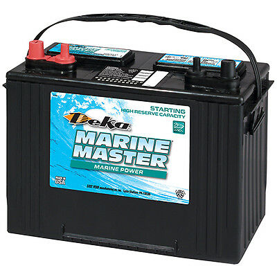 DEKA GENUINE NEW 27M6 Marine Starting Battery 1050Amp Cranking Power (Group 27) Marine Cranking Amps