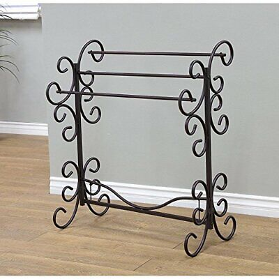 """Furnishing Blanket Rack 35.5"""" H Perfect for Hanging Quilts Blankets Comforters"""