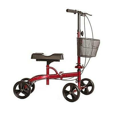 New In Box Cardinal Health Steerable Knee Walker / Knee Scooter With Basket