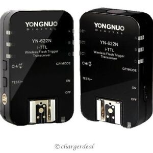 Yongnuo YN622N i-TTL Wireless Flash Trigger Transceiver 1/8000s for Nikon Camera