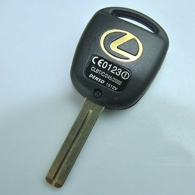 2 New Replacement Key Case Shell Keyless Remote Fob Uncut Blade Lexus Gold Logo