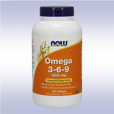 Now Omega 3 6 9  1000 Mg  Fatty Acids Flax Seed Oil Omega 4 Omega 6 Omega 9 369