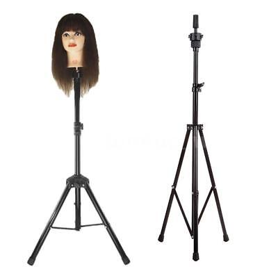 Hairdressing Training Head Tripod Stand Holder Hair Wig Salon Model Holder Stand