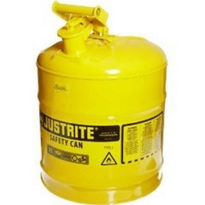 Justrite 7150200 Yellow Metal Safety Can Type 1 Five Gallon Capacity - Diesel