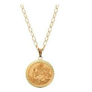 Gold st christopher jewellery watches ebay gold st christopher chains mozeypictures Images