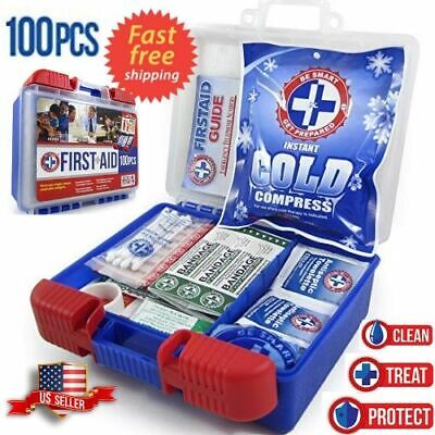 First Aid Kit Medical Car Travel Emergency Medicine Auto Home Outdoor Survival ()