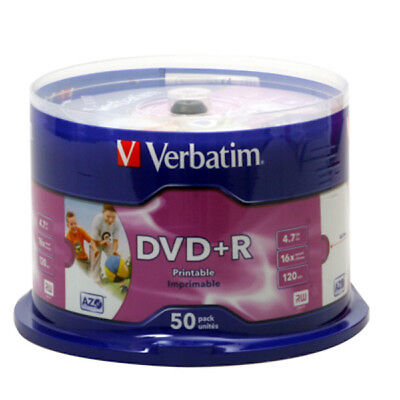 50x Verbatim DVD+R Rohlinge 4.7 GB voll bedruckbar - full printable -16x - 43512 (Dvd-r Bedruckbar)