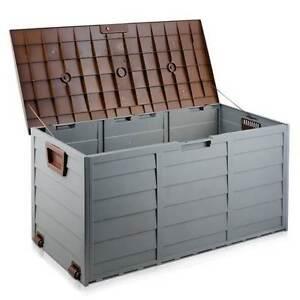 290L Plastic Outdoor Storage Box Container Weatherproof Brown Gre Brisbane City Brisbane North West Preview