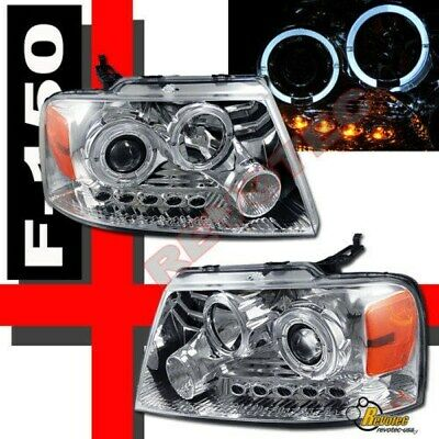 04-08 Ford F150 Pickup Lincoln Mark LT Halo LED Projector Headlights RH + LH