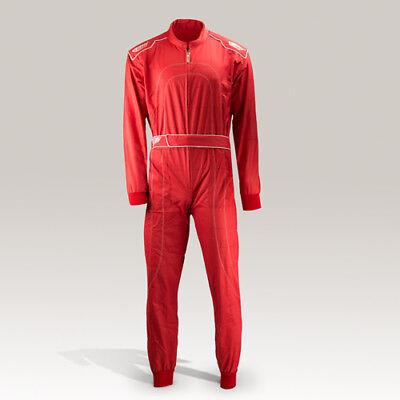 Overall rot Rennfahrer Kostüm Neu Gr. 140-XXL
