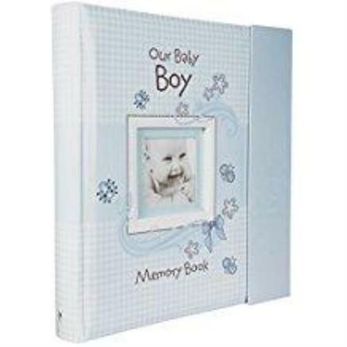 Baby Book Our Baby Boy Memory Book Blue with Gift Box