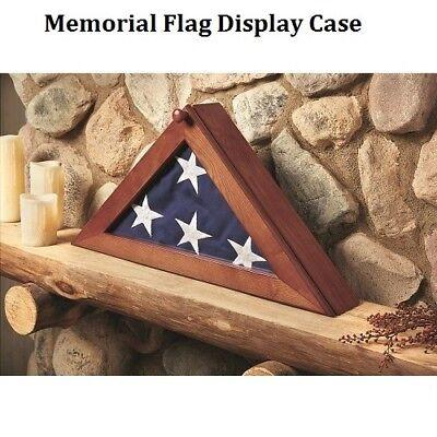 Burial Flag Display Case For American Us Military Veteran Funeral Memorial Flags (Us Flag Display Case)