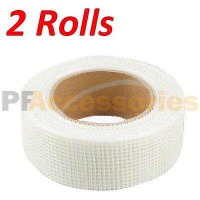 2 Rolls 65 Ft X 2 Self Adhesive Fiberglass Cloth Tape White Mesh For Drywall