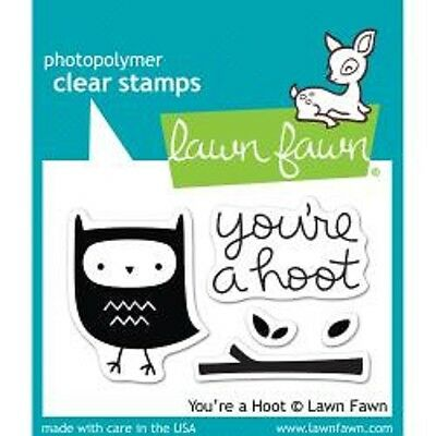 LAWN FAWN RUBBER STAMPS CLEAR YOU'RE A HOOT NEW STAMP SET