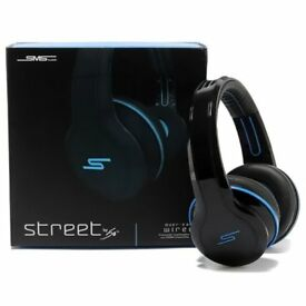 50 Cent SMS Headphones in black/blue