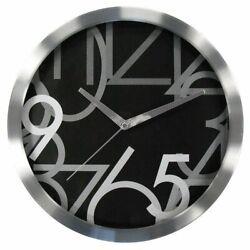 Geneva 12-in. Silver Metal Wall Clock-3940G