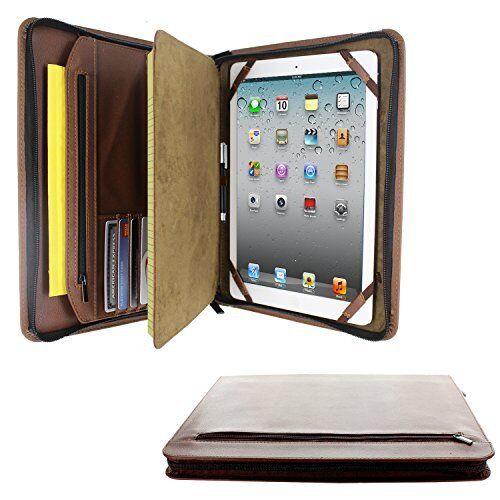 iPad Pro 9.7 PadFolio Case Leather Zipper Multiple Pockets N