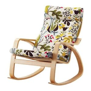 IKEA poang rocking chair with a footstool (the same color)
