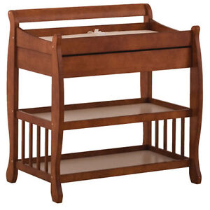 *STORK CRAFT* TUSCANY CHANGING TABLE with DRAWER - COGNAC